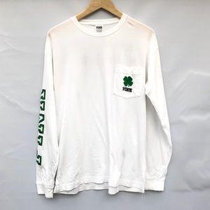 PINK St. Patrick's long sleeve tee